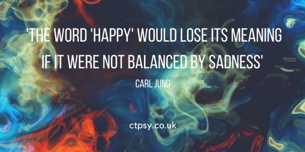 Carl Jung quote happiness and sadness balance